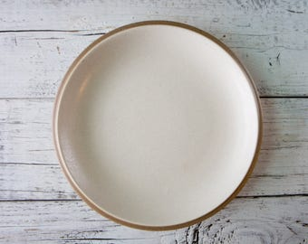 Cream Ceramic Plate with Tan Rim-Food Photography Props