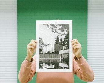Riso print poster 'Clean Slate' by Maarten Huizing