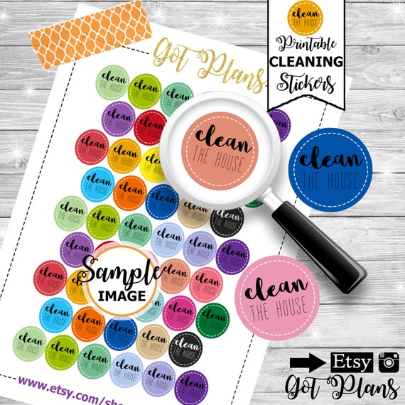 Clean The House Planner Stickers Printable Planner Stickers Printable Stickers Planner Decor Stickers For Planners Decorating Stickers