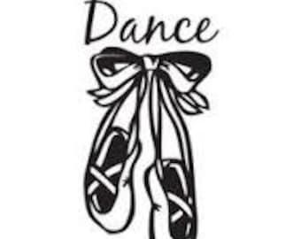 Dance Ballet Slippers      Vinyl Decal Sticker