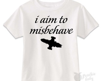 I Aim to Misbehave Kids Tee | Serenity Firefly Tee Shirt for Kids