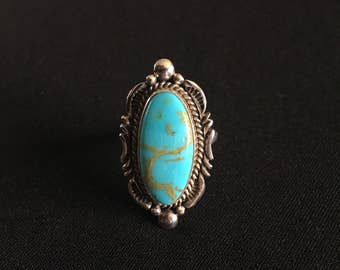 Sterling Silver Mana Turquoise Ring Size 7