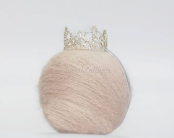 Newborn Rhinestone Crown, Photo Prop Baby Crown, Newborn Princess Crown, Photo Prop Baby Tiara, Newborn Crown, Crown Crystal Tiara RTS