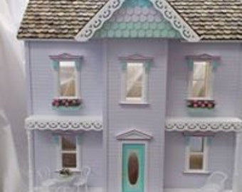 Emily Dollhouse doll house MADE IN the USA 3/8 birch