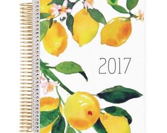 Lemon Burst Planner Cover