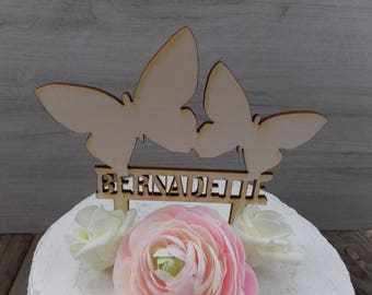 Cake Topper 'Butterflies' - Cake Topper, Decoration, Birthday, Baptism, Communion, Confirmation