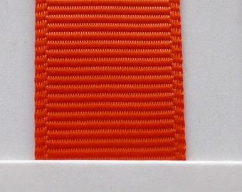 "3/8"" / 10mm Solid Grosgrain Ribbon AUTUMN ORANGE #761 X 2 METERS"