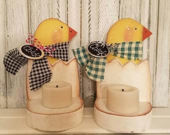 Little Chick Easter and Spring Votive Holder