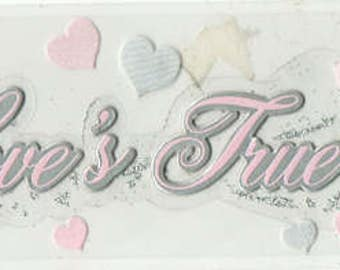 Love's True Kiss Disney Title Jolee's Boutique Scrapbook Stickers Embellishments Cardmaking Crafts