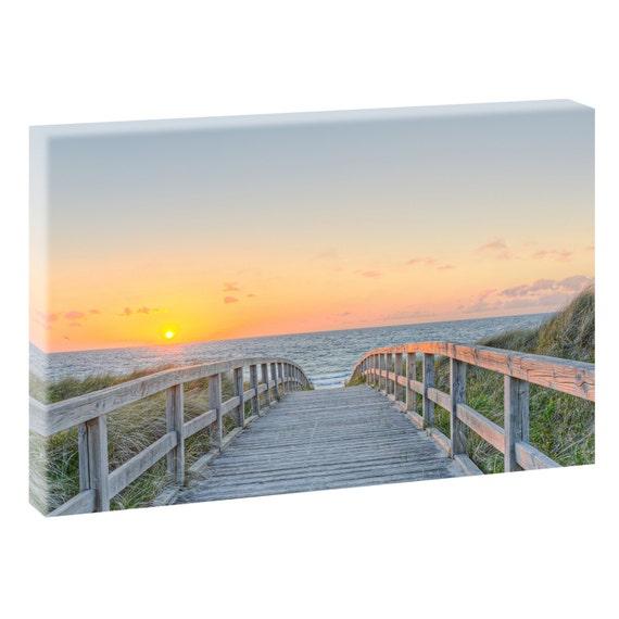 weg zum strand 2 bild strand meer leinwand poster xxl 120. Black Bedroom Furniture Sets. Home Design Ideas