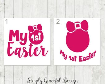 My 1st Easter Decal - Easter Decal - Easter Basket Decal - Easter DIY Decal - Easter Tumbler Decal - Easter Egg Decal - Decal for 1st Easter
