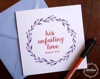 Baptism Card - Bible Card - Christian Card - Bible Verse - Psalms