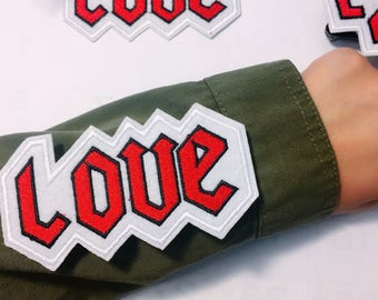 Y/Love/free shipping iron on patch / embroidery appliqués
