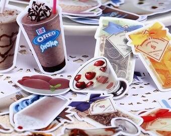 30pc Drinks Bear- Japanese scrapbooking stickers,scrapbooking,decorative stickers, japanese stickers,decor stickers,kawaii stickers