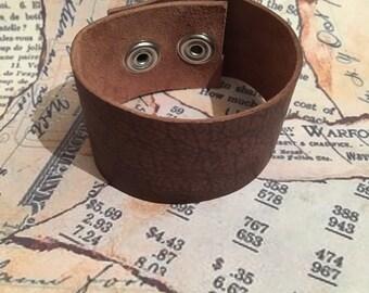 Rugged leather cuff