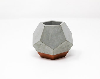 Dodecahedron Planter: Bronze