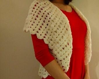 White crochet short sleeve cardigan