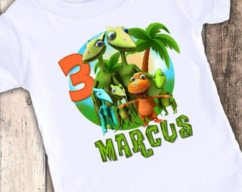 Dinosaur Train custom designed birthday t shirt tshirt personalized