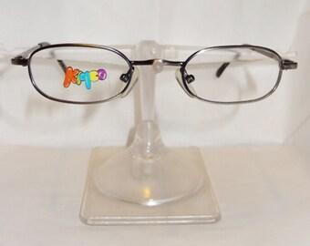Vtg Kidco Kids Childrens RX ready eyeglass frames, model: Buddy, gunmetal metal frames
