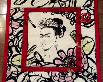 Art Quilt Frida Kahlo