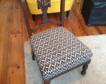 Charming restyled upholstered chair