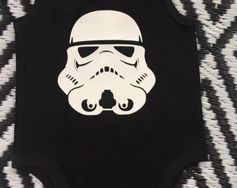 Storm Trooper Baby Romper