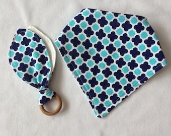 Teething toy& bandana bib set