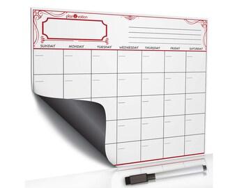 Reusable Calendar~Memo Calendar~Monthly Dry Erase~Calendar Monthly~Dry Erase~Magnetic Calendar~Dry Erase Memo