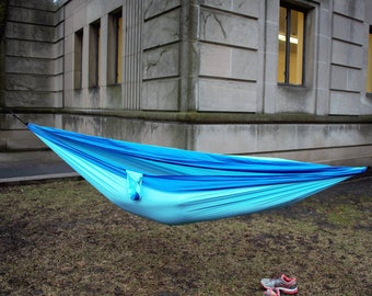 Portable Hammock XL Double Two Person 10 by 6 Feet Includes Ropes and Carabiners ENO style
