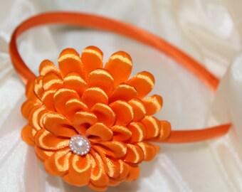 Handmade Satin Sunflower Headband