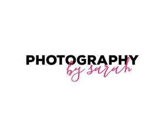 Simple Logo / Premade Photography Logo / Blog Logo Design / Photography Logo and Watermarks / Shop Logo / Minimalist Logo / Blog Header Logo