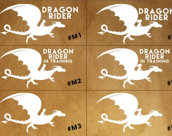 DRAGON RIDER decal - car, laptop, phone decal - Dragon Fans!