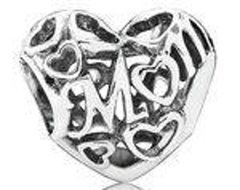 Authentic PANDORA Motherly Love Charm Bead Gift for Mom