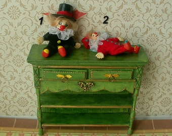 Little clowns. Сircus. A doll for a doll.Toys for the dollhouse  Scale 1:12
