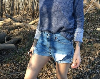 high waisted vintage Levi shorts