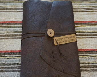 Genuine Leather Wraparound Journal