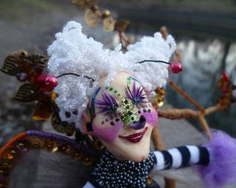 handmade dolls, butterfly, бабочка