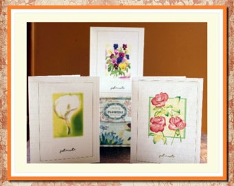 note cards, floral design, cards, blank, any occasion