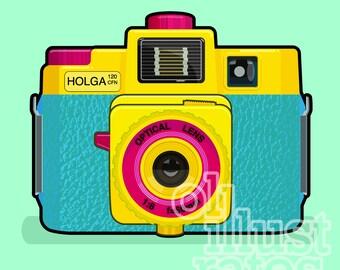 Holga 120 camera, printable instant download