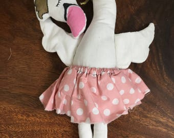 White swan doll with skirt