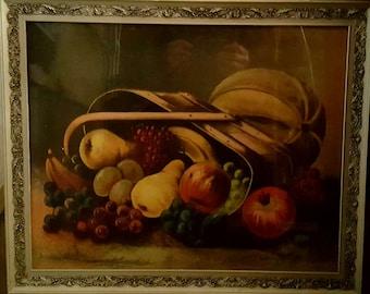 Framed Fruit and Basket