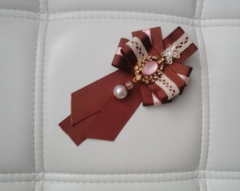 "Brooch-Tie ""Chocolate"""