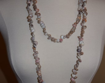 Vintage Tiny Shell Long Necklace