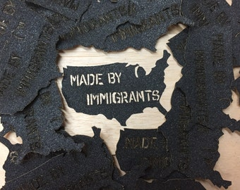 Made By Immigrants sticker / Made in USA