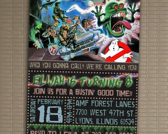 Ghostbusters Invitation, You Print Invitation, Ghostbusters Birthday, Ghostbusters Invite, Ghostbusters Birthday Party Invite