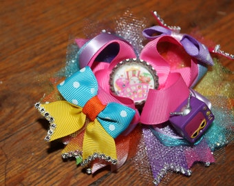 Shopkins stacked hair bow