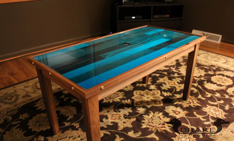 Epoxy resin coffee table butcher block - Table resine epoxy ...
