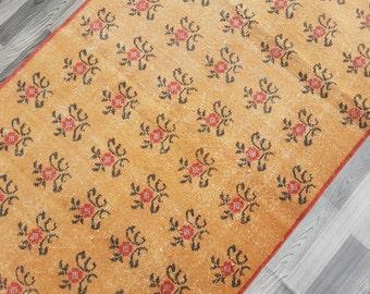 Muted Color Rug,Vintage Anatolian Turkish  RUG Size : 4' x 7' --- 121 x 211 cm,Muted Color rug,Turkish Carpet,Office Rug