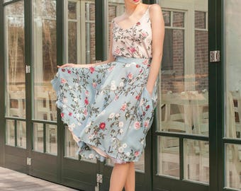 Forget-Me-Not Midi Skirt