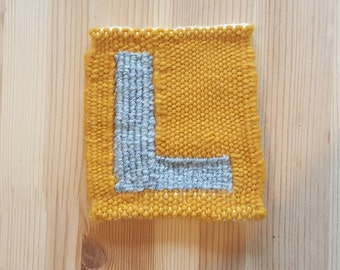 The Letter L (Block) - Handwoven Monogram Tapestry